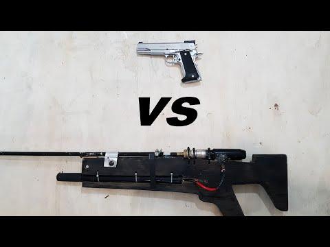 Airsoft Pistol VS Homemade Airsoft Gun