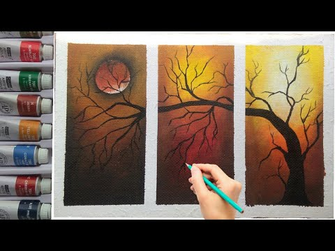 How To Draw Easy And Simple Wall Decorative Painting By Own