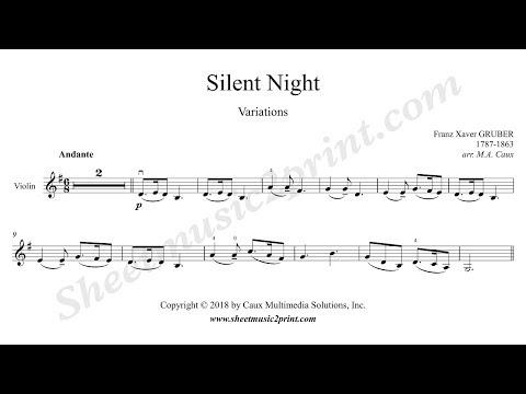 Silent Night Variations - Violin