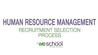 Learn the basics of hr recruitment and selection process in human resource management. for more info on welingkar's pgdm distance learning program: http://bi...