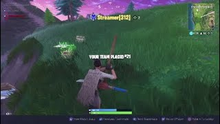 The most intense game of fortnite w/random hype man