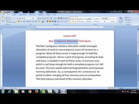Non contiguous Memory Allocation Techniques[Paging] (Lecture #24)