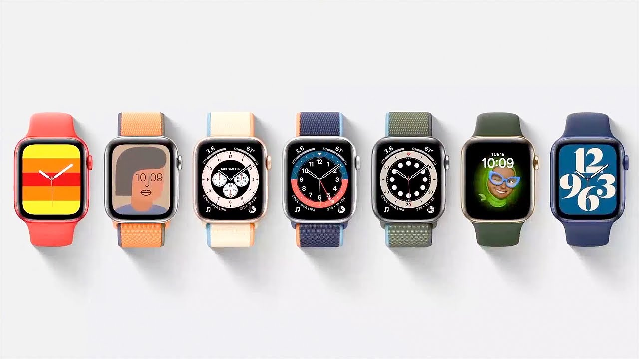 Download EVERY WATCH FACE! Apple Watch Series 6 reveals full design (solo loop bands)