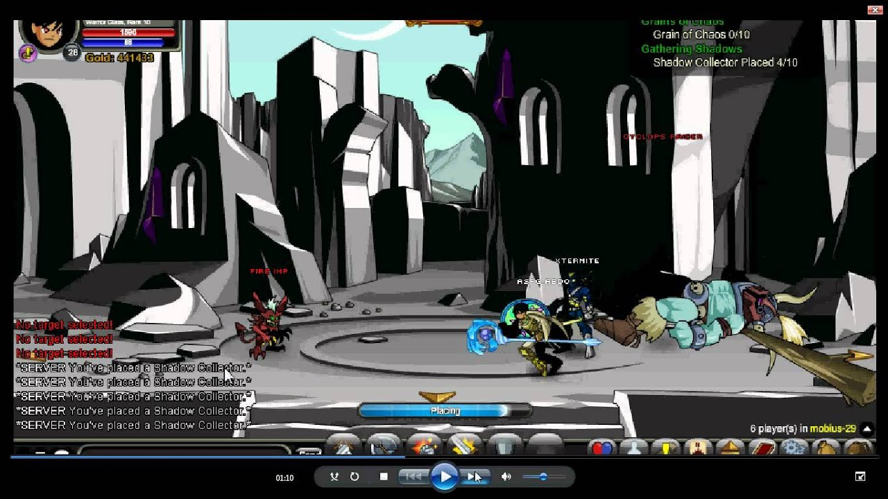 =/joinMobius Gathering Shadows Quest Aqw