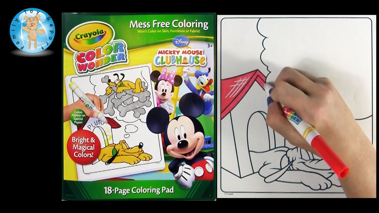 Crayola Color Wonder Mickey Mouse Clubhouse Coloring Pad Book ...