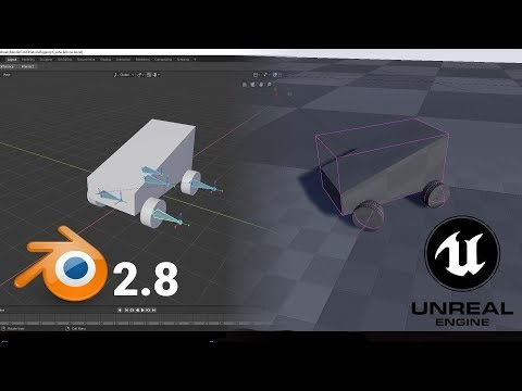 How to rig vehicle in blender 2 8 for Unreal Engine 4