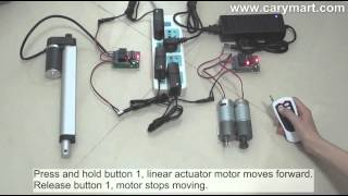 How to Remote Control Linear Actuator Motor by Ordinary 2ch RF Remote Control Kit?