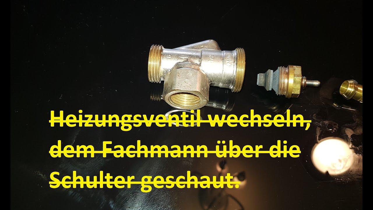 Häufig Heizungsventil wechseln - YouTube JF04