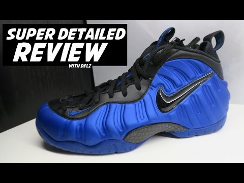 NIKE FOAMPOSITE PRO HYPER COBALT ROYAL BLUE SHOE - SUPER DETAILED LOOK