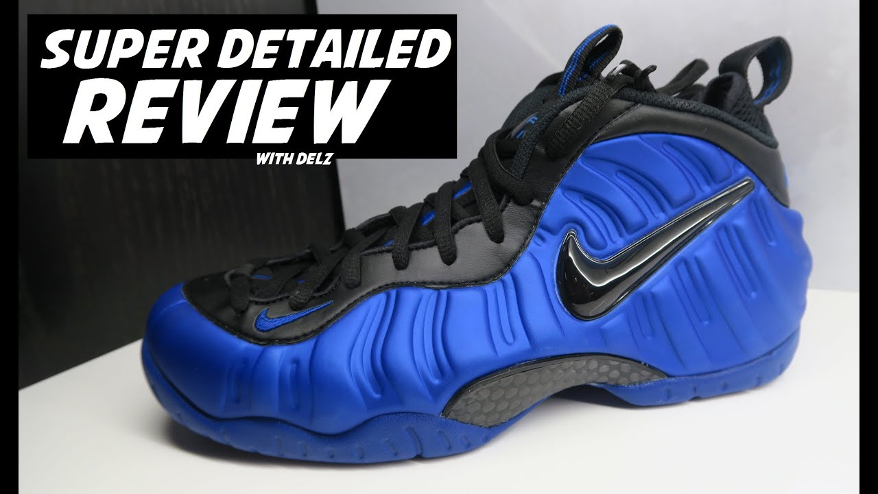 c8add139bcfa8 NIKE FOAMPOSITE PRO HYPER COBALT ROYAL BLUE SHOE - SUPER DETAILED LOOK