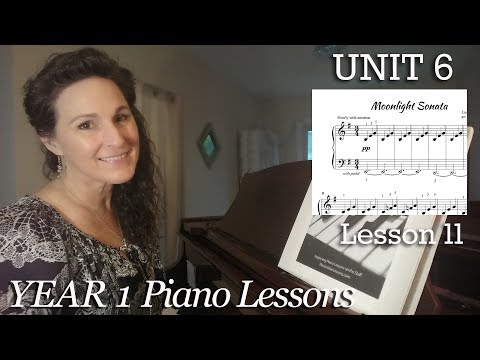 6-11 Moonlight Sonata (How to Play) [Year 1 #91] - Easy Piano Classics   download sheet music