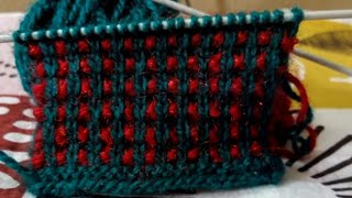 Knitting design in 2 colour combination
