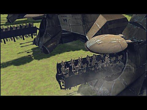 HUGE DROID MULTI-TROOP TRANSPORT ASSAULT - Star Wars: Galaxy at War Mod Gameplay