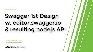 Swagger Contract 1st Node JS API