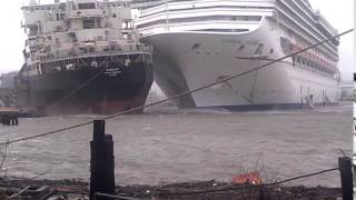 CRUISE SHIPS CRASH INTO EACH OTHER AT SEA!!