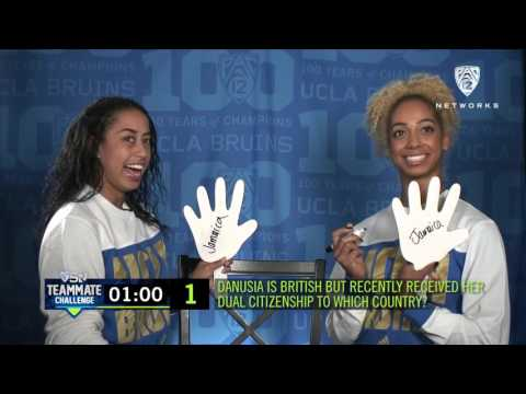 Teammate Challenge: UCLA women\'s gymnasts Sophina Dejesus and Danusia Francis have some fun