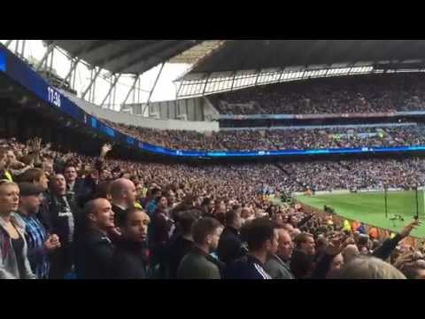Shall we sing a song for you - Tottenham away fans at Man City