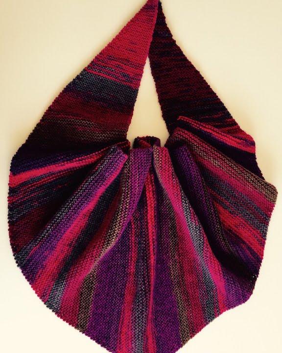 Free Slip Stitch Knitting Patterns : point tricot Tricoter une echarpe chale knitting patterns Knit a scarf shawl ...
