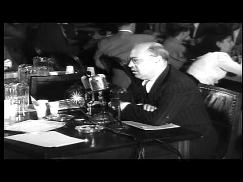 House Committee on Un-American Activities hearing in Washington DC. HD Stock Footage