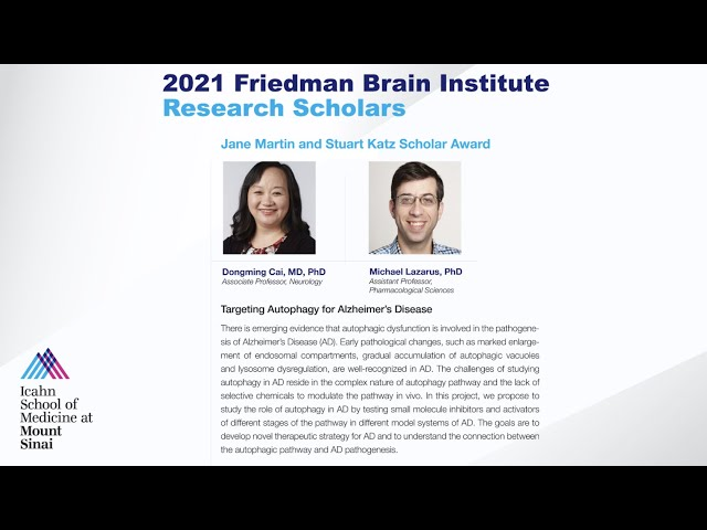 FBI Research Scholars: Dongming Cai, MD, PhD and Michael Lazarus, PhD