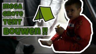 SUPER GROTE TENT BOUWEN OP ZOLDER !! - Broer en Zus TV VLOG #90