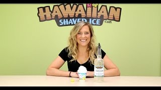 creamy coconut shaved ice and snow cone syrup