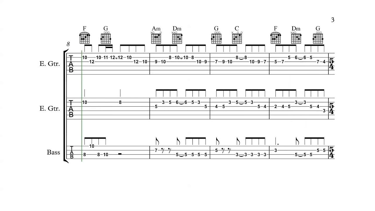 Super Mario Bros. 3 (NES) - Overworld Theme 2 - Guitar/Bass Tabs + Chords - YouTube