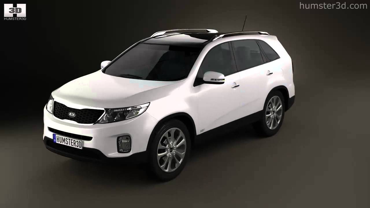 kia sorento xm 2012 by 3d model store youtube. Black Bedroom Furniture Sets. Home Design Ideas