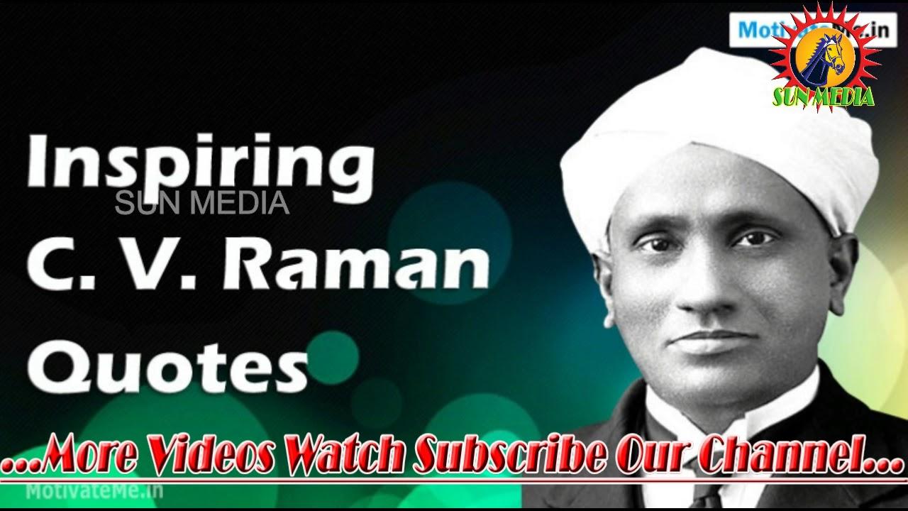 The Great History Of Sir C V Raman C V Raman Of Tamil Short