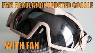 AIRSOFT | REVIEW FMA 2R Regulator Goggle with Fan (ENGLISH SUBS)