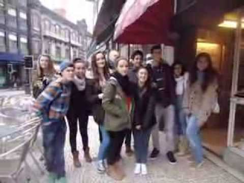 Polish, Finnish, Greek and Spanish Comenius students in Porto - 23 Jan 2014