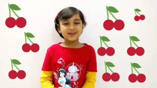 Kids craft tuturial - How to make 3D cherry , Simple Step by Step Kids guide on craft activities