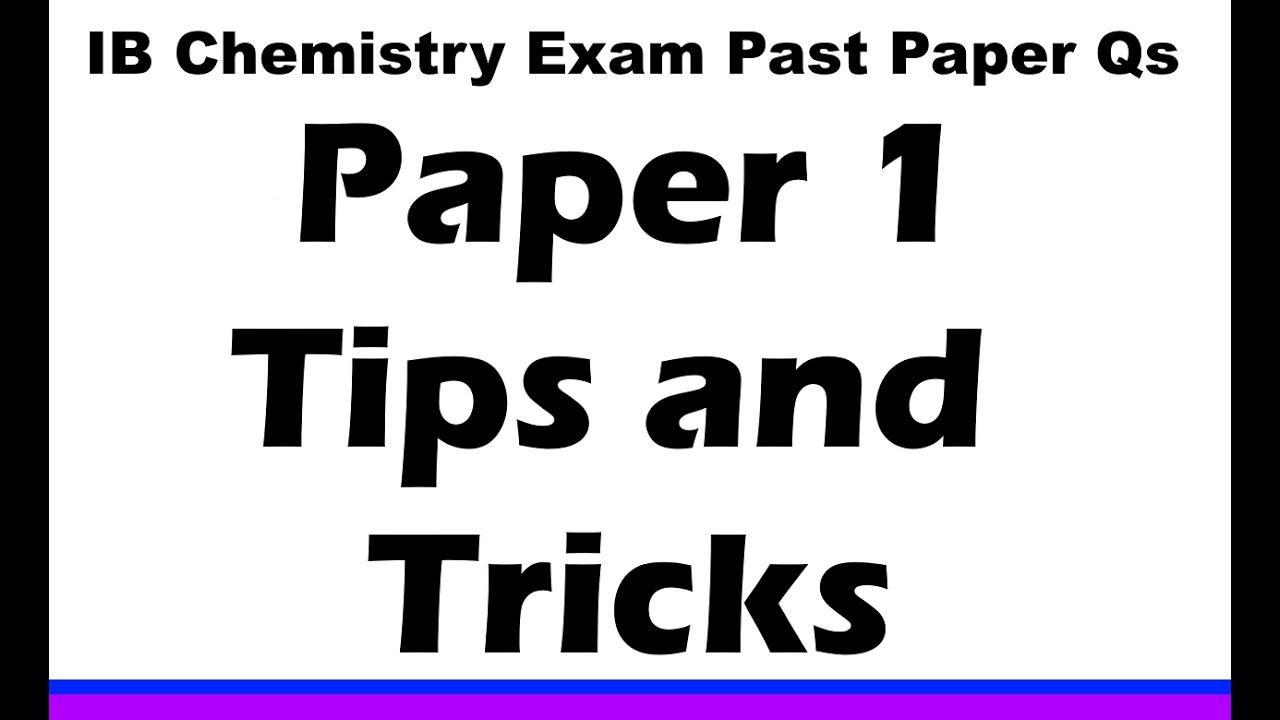 IB Chemistry EXAMS - MrWeng's IB Chemistry