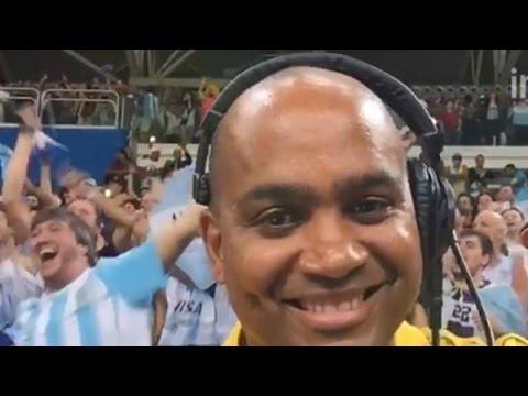 DJ brasileño se vuelve loco por la hinchada argentina