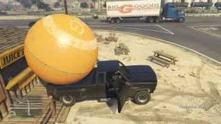 GTA 5 Ultimate Pickup Towing Challenge - Bobcat + Orange Ball + Boat Trailer