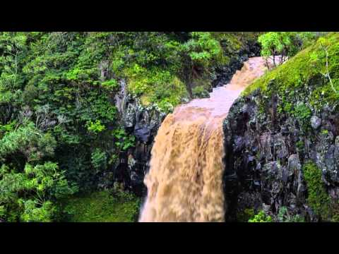Waterfall After Heavy Rains In Huelo, Maui