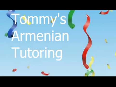 Tommy's Armenian Tutoring Commercial In Armenian