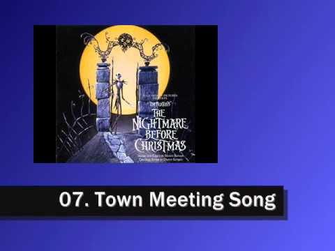 Nightmare Before Christmas Soundtrack - 07. Town Meeting Song ...