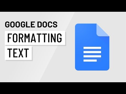Google Docs: Formatting Text and Adding Hyperlinks