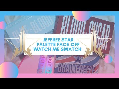 #JefreeStar Blood Sugar v. Blue Blood v. Jeffree Star x Morphe | Watch Me Swatch thumbnail