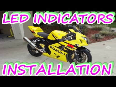 GSXR LED TURN SIGNAL INSTALLATION, STEP BY STEP, HOW TO, TUTORIAL