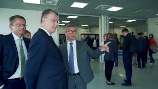 Открытие класса дуального обучения на заводе CLAAS в Краснодаре 1 октября 2018.