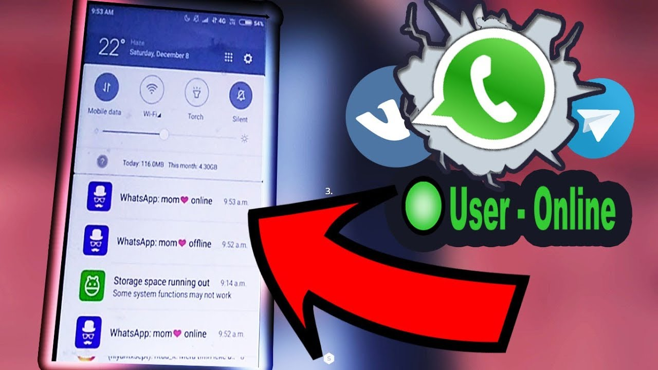 HOW TO GET NOTIFIED WHEN SOMEONE IS ONLINE ON WHATSAPP ! (TELEGRAM/VK)  (2019)