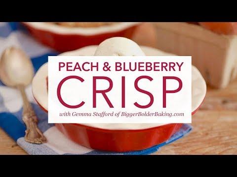Peach and Blueberry Crisp By Gemma Stafford