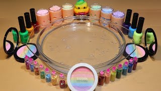 """Color Series Season3 Mixing """"RAINBOW"""" Makeup,Parts,slime... Into Clear Slime! """"RAINBOWSlime"""""""