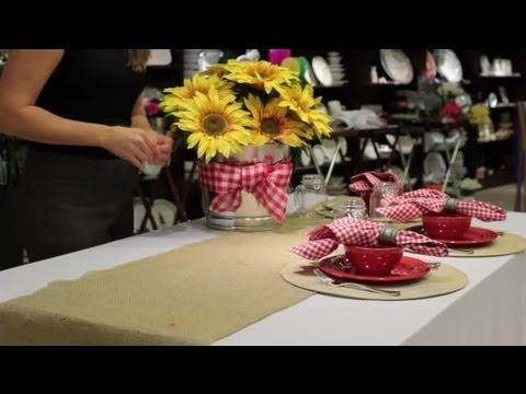 How to Decorate a Table for a Chili Supper  Table Designs & How to Decorate a Table for a Chili Supper : Table Designs - YouTube