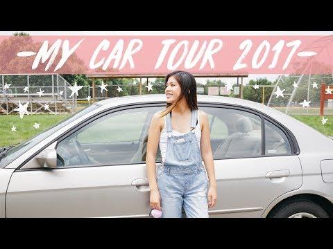 MY CAR TOUR! What's in my Car! Honda Civic 2003! || Ariel Alena