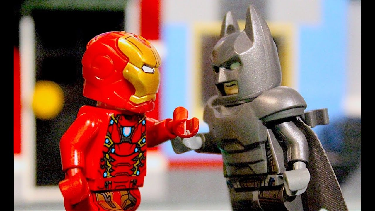 lego batman vs ironman powerarmor fight youtube