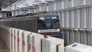 東京メトロ10000系10102F「Fライナー」元住吉駅高速通過!