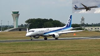 🇯🇵 The Elegant ANA Mitsubishi Regional Jet MRJ90 Flying at Farnborough UK